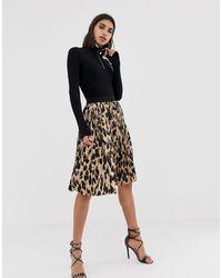 PrettyLittleThing Pleated Midi Skirt - Black