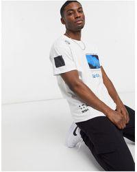 New Look Camiseta blanca extragrande con estampado - Blanco