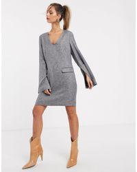 UNIQUE21 - Vestito grembiule con maniche ampie - Lyst