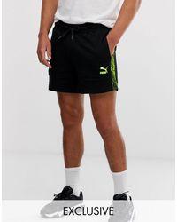 PUMA Pantalones cortos con cinta con estampado - Negro