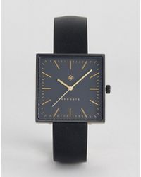 Newgate Watches - The Cubleine Square Watch In Black Leather - Lyst