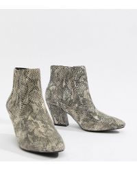 ASOS - Reminisce Chelsea Ankle Boots In Snake Print - Lyst