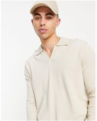 ASOS Knitted Cotton Notch Neck Sweater - Multicolor