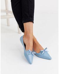 Jason Wu Pointed Bow Ballet Flat - Blue