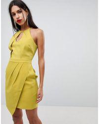 Adelyn Rae - Tami Asymmetrical Sheath Dress - Lyst