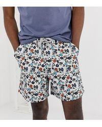 ASOS Tall Slim Shorter Shorts - Gray