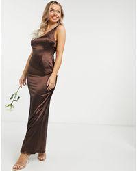 TFNC London - Платье Макси Шоколадного Цвета Bridesmaid-коричневый - Lyst