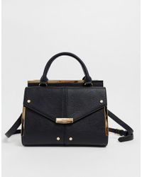 Dune Lady Grab Bag With Top Handle And Optional Strap - Black