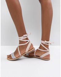 ASOS ASOS – FI – Verzierte, flache Sandalen - Mehrfarbig
