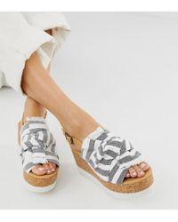 Plataforma Gris Con De Color Dolceamp; Gabbana Sandalias Joyas Lyst pSMVzqGU