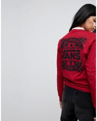 Vans   Oversized Long Sleeve T-shirt In Red   Lyst