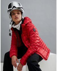 Napapijri - Aerons Hooded Jacket In Red - Lyst