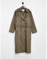 Object Oversized Trench Coat - Brown