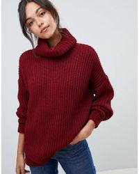 ASOS DESIGN - Oversized Roll Neck Sweater - Lyst