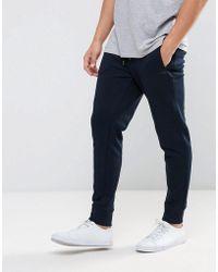 Armani Jeans - Cuffed Logo Sweat Joggers Navy - Lyst