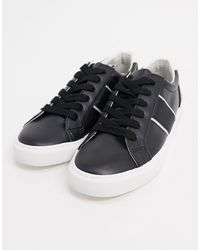 ASOS Sneakers With Side Stripe - Black