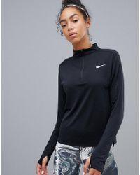 Nike - Half Zip Pacer Top In Black - Lyst