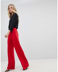 Ivyrevel Wide Leg Jersey Pants - Red
