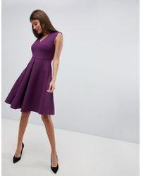 Closet Vestito con gonna a pieghe - Rosa