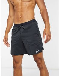 Nike Flex Stride 2-in-1-Laufshorts (ca. 18 cm) - Schwarz