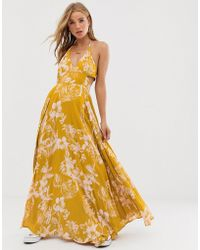 Free People Lille Printed Maxi Dress - Yellow