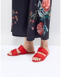 Pieces - Two Part Mule With Fringing - Lyst