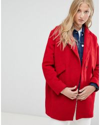 d.RA - Onna Boxy Wool Blend Short Coat - Lyst