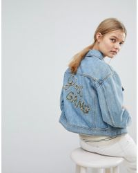 MAX&Co. | Max&co Girl Gang Denim Jacket | Lyst