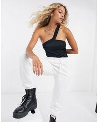 Bershka Asymmetric Body - Black
