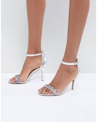 Dune - Meeva Jewel Barely There Heeled Sandals - Lyst