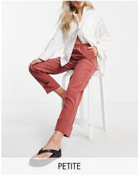Y.A.S Petite Suit Trousers With Elasticated Waist And Turn Up Co-ord - Pink