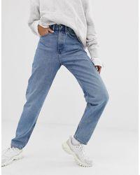 Weekday Lash Organic Cotton Oversized Mom Jean - Blue