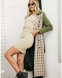 UNIQUE21 Mix& Match Trench - Green