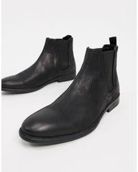 River Island - Черные Ботинки Челси С Эффектом Поношенности -черный - Lyst