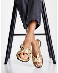 Miss Selfridge Echo Sandal - Metallic