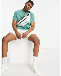 Polo Ralph Lauren Кремовая Сумка-кошелек На Пояс С Зеленым Логотипом X Asos Exclusive Collab-белый