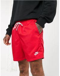 Nike Flow Logo Swim Shorts Red