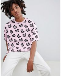 ASOS - Wu Tang Oversized T-shirt With All Over Print - Lyst