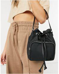 ASOS Bucket Bag With Front Pocket - Black
