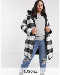 Simply Be Reversible Padded Jacket - Black