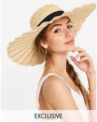 South Beach Соломенная Шляпа С Фактурной Отделкой По Краю -нейтральный - Естественный