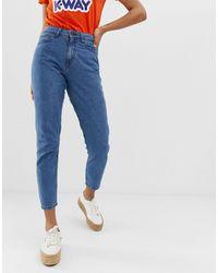 Noisy May Mom jeans alla caviglia - Blu