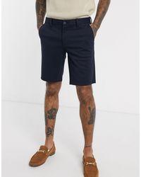 Only & Sons - Pantaloncini slim eleganti blu navy - Lyst