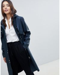 Y.A.S - Hooded Rain Trench Coat - Lyst