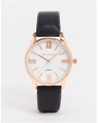 Bellfield Watch With Black Strap And Rose Gold Dial
