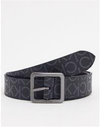 Calvin Klein Cintura con fibbia nera 35 mm - Nero