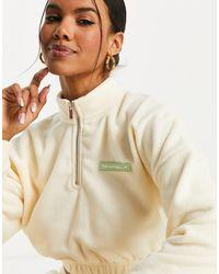 The Couture Club Sweat-shirt court en polaire (pièce d'ensemble) - cassé - Blanc