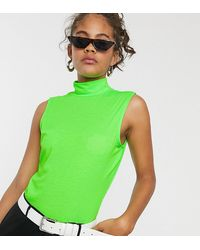 Noisy May Tall Merin Short Sleeve Bodysuit - Green