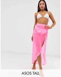 ASOS ASOS DESIGN Tall – Strand-Sarong - Pink