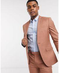 TOPMAN Бежевый Приталенный Пиджак -коричневый - Многоцветный